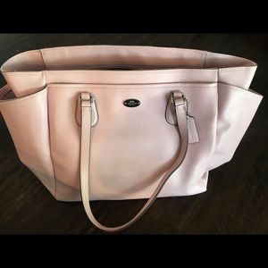Coach Leather Baby Diaper Bag